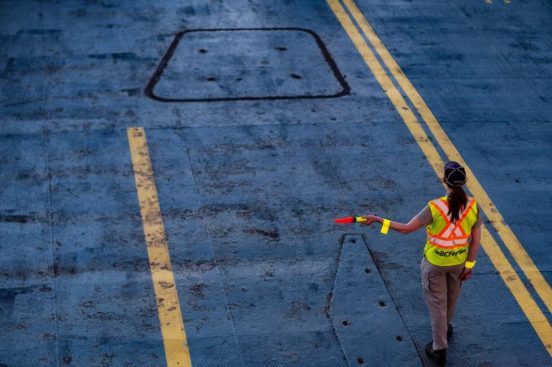 Image of a female road worker.